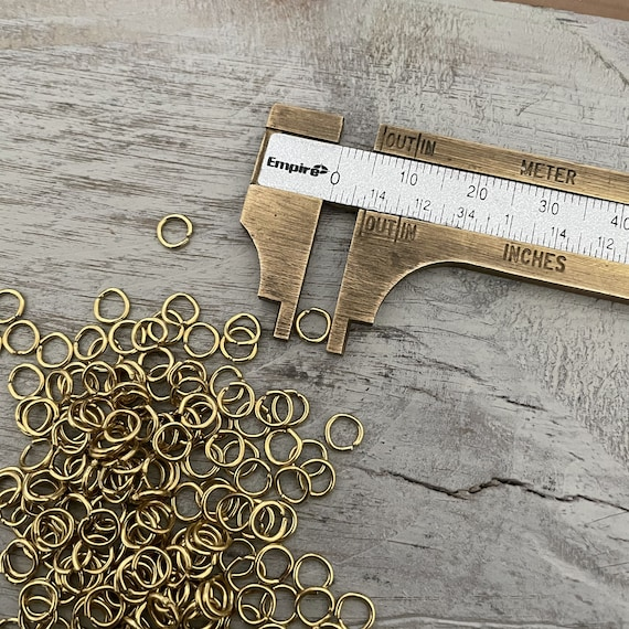 Raw Brass Jump Rings - 5 mm - 12 GR Approx.200 Pcs.  - 3059