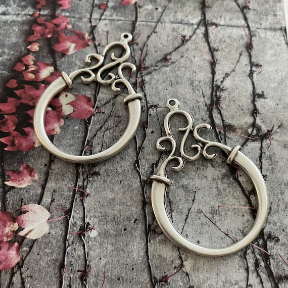 Wholesale earring findings for jewelry making parts.Antique Silver plated earring  parts. Best gift for her.8040