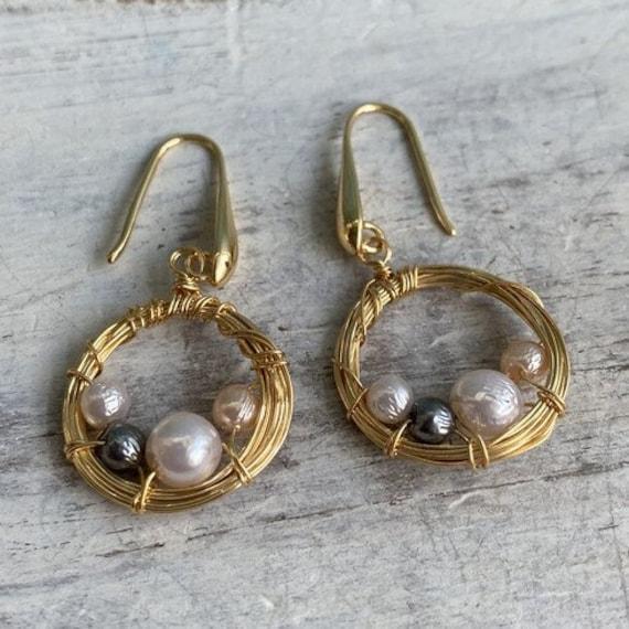 S094 - Minimalist Earrings,Bohemian Jewelry,Gold Earrings