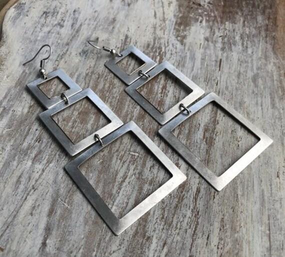 5410 - Geometric Earrings, Minimalist Earrings Bohemian Earrings