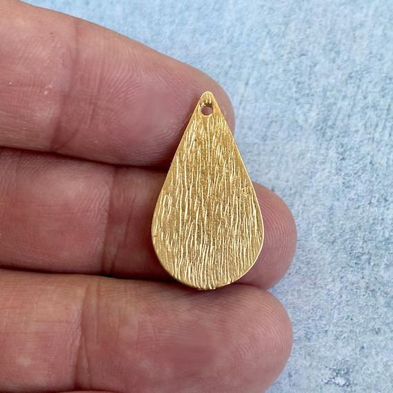 1155 - 6 Pcs. Matte Gold Plated Earring Parts - Bohemian Brass Earring Findings.