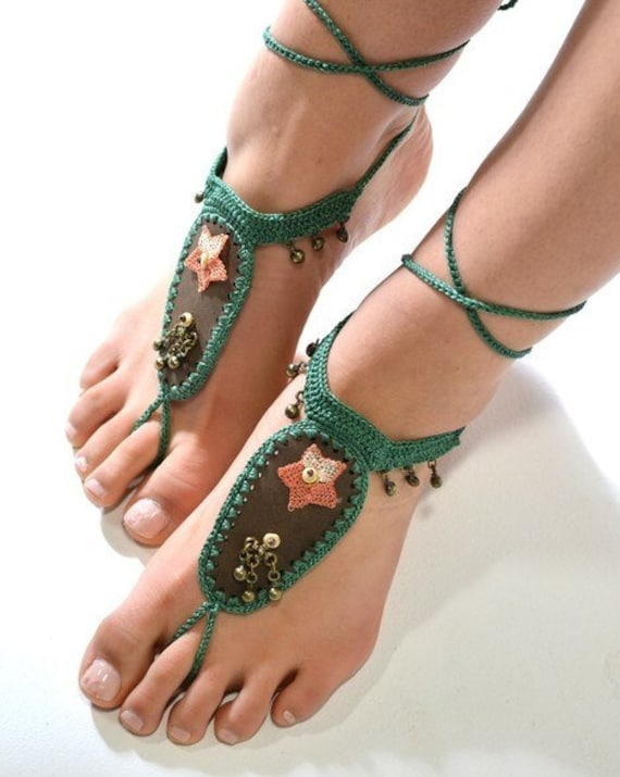 6017 - Andes Hand Crocheted Barefoot Sandals
