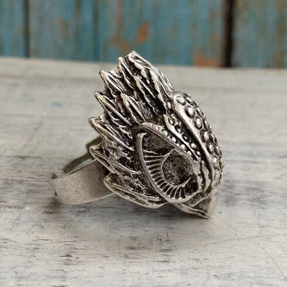4438 - Boho Ring, Bohemian Ring , Ethnic, Tribal, Hippie Style