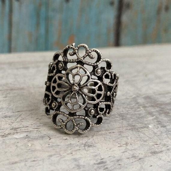 4411 -boho Ring, Bohemian Ring , Ethnic, Tribal, Hippie Style
