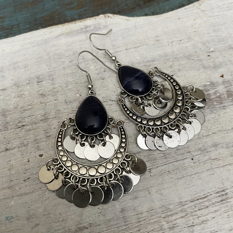5571  Bohemian EarringsBohemian Jewelry Earring Svg image 0