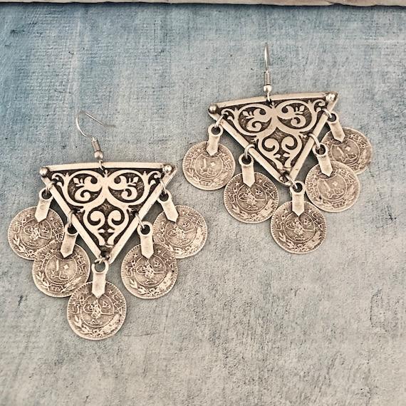 5484 - Dangle Earrings, African earrings, ethnic jewelry