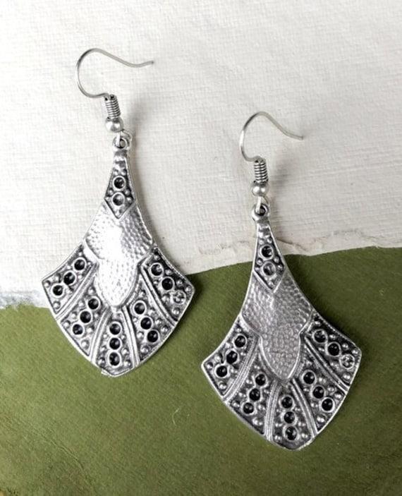 5346 - Bohemian Earrings,Bohemian Jewelry, Minimalist Earrings