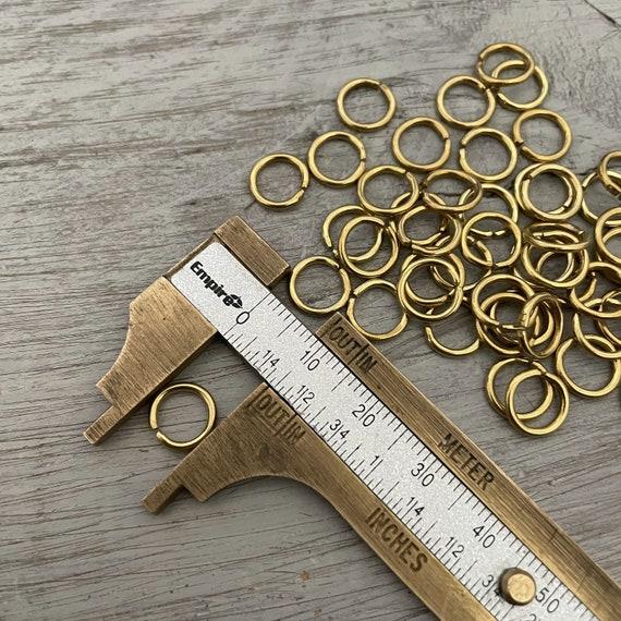 3057 - 12 GR  Raw Brass Jump Rings - 9 mm