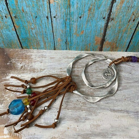 1099 - Bohemian necklace boho necklace coin necklace silver necklace ethnic jewelry tribal jewelry, body jewelry, choker necklace