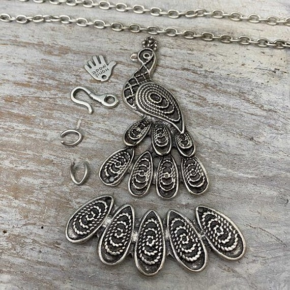 7034- Blooming Plume Pendant - Necklace for women - Necklace making kit - Gift for