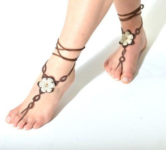 6042 - Elba Hand Crocheted Barefoot Sandals