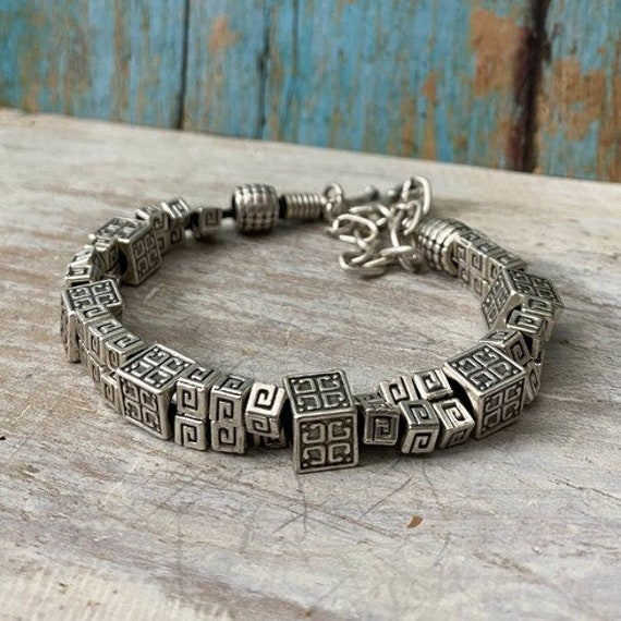 2016 - Antique Silver Plated  Bohemian Bracelet Findings