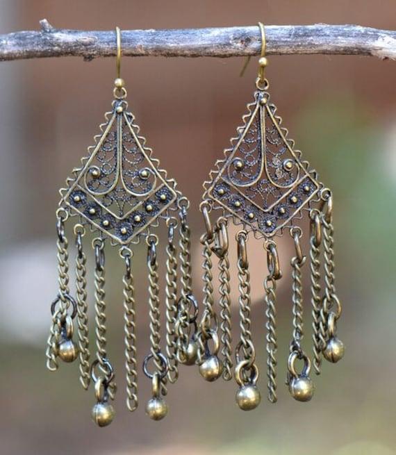 5457 - Tassel Earrings, Stud Earrings, Dangle Earrings