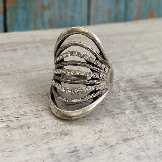 4436 - Boho Ring, Bohemian Ring , Ethnic, Tribal, Hippie Style
