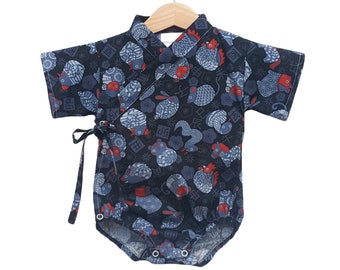 Baby Kimono - ZODIAC JAPAN - Baby outfit - cool baby clothes japanese jinbei Asian animals