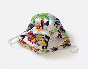 Ninja Kawaii - Cotton Face Cover with nose wire and filter pocket - breathable - washable - comfortable - reversible