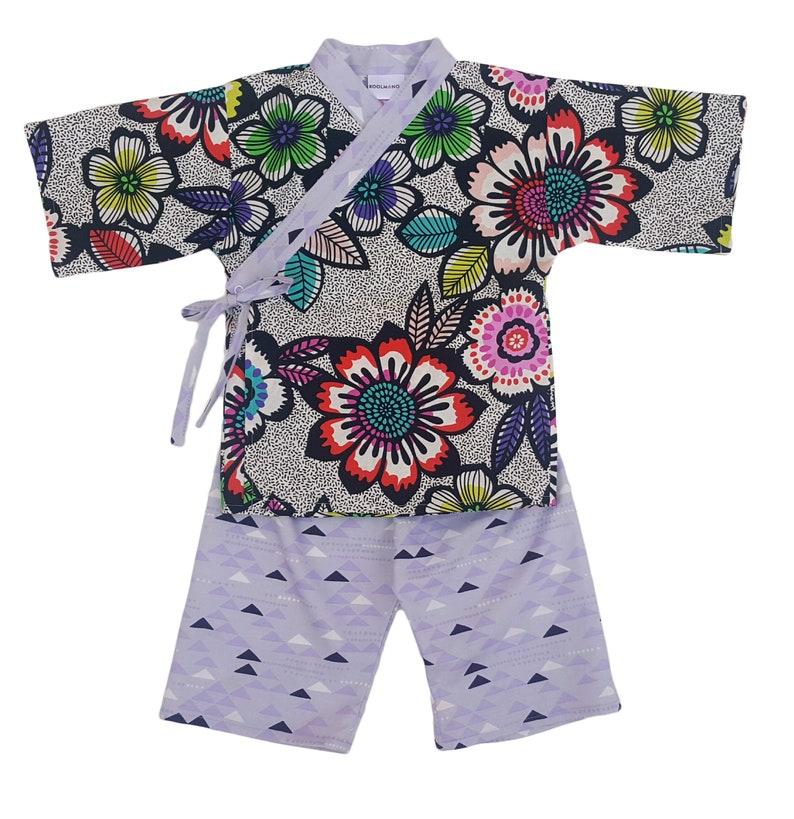 Kids Kimono  BRIGHT ACUPULCO  Japanese pajamas loungewear image 0