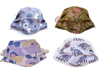 Cotton Face Covers - Flora and Fauna - Animals Plants Nature Flowers Wildlife Blossoms - Children Adults - Wire Filter Pocket - Many Fabrics