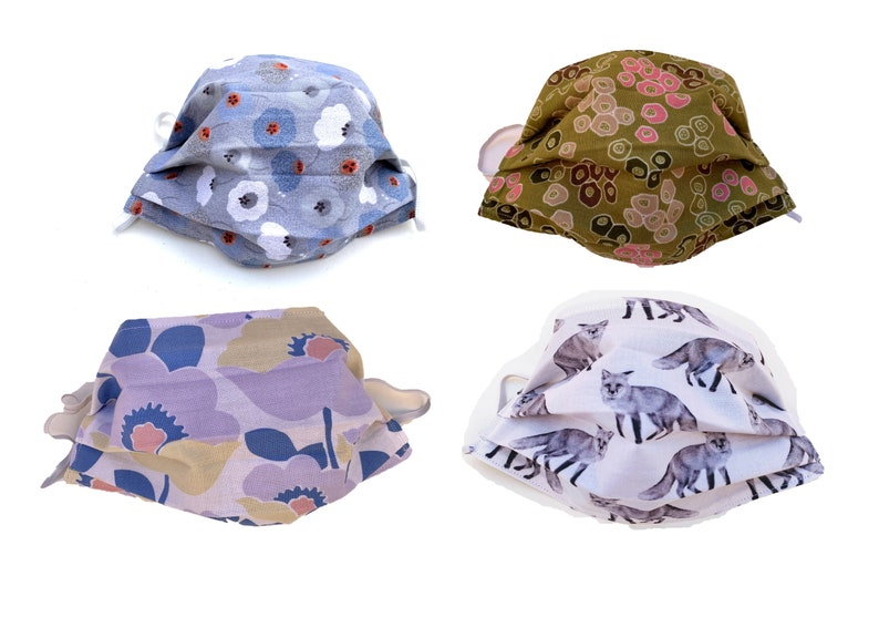 Cotton Face Covers  Flora and Fauna  Animals Plants Nature image 0
