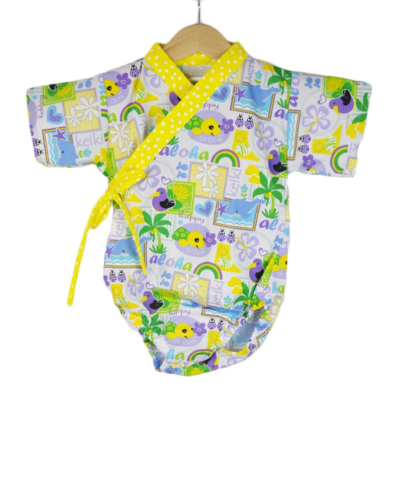 Baby Kimono  ALOHA   modern kimono baby toddler japanese image 0