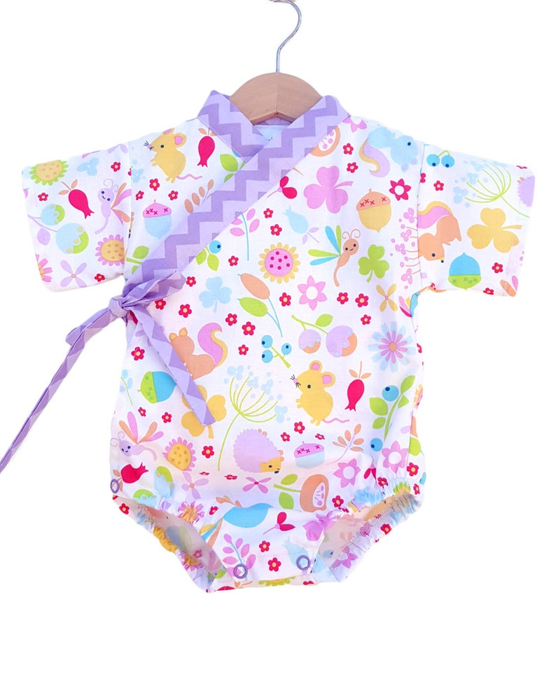 Baby Kimono Bodysuit  Little Critters  baby toddler  cute image 0