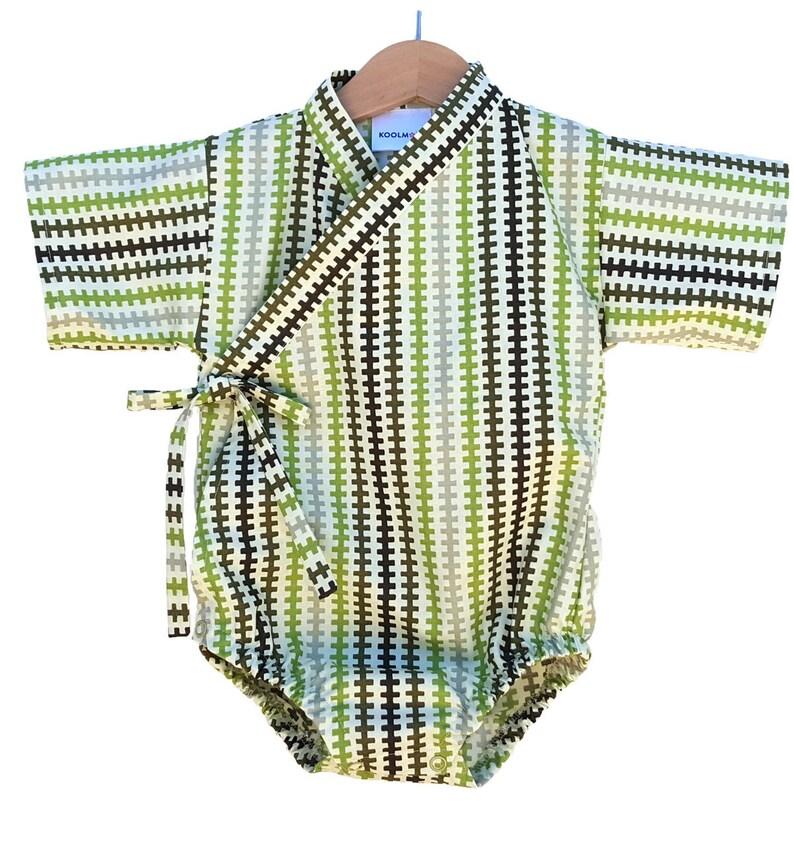 Baby Bodysuit Kimono  SADDLE BLANKET  Japanese kimono onesie image 0