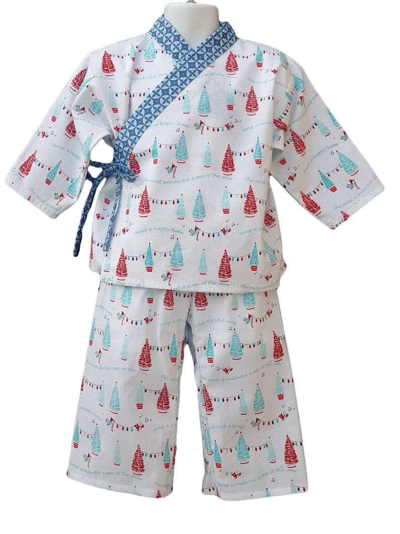 Kimono Pajamas Lounge wear Christmas Holiday Winter Kids Baby image 0