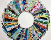 I Spy Fabric Pack - 100 Pieces - Pre-cut 5 quot squares perfect for baby or kids quilt