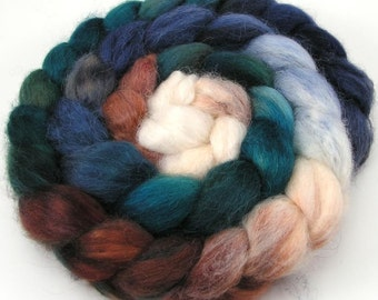 Spinning Fiber - Baby Alpaca Combed Top / Roving 4 oz - Winter Gorge
