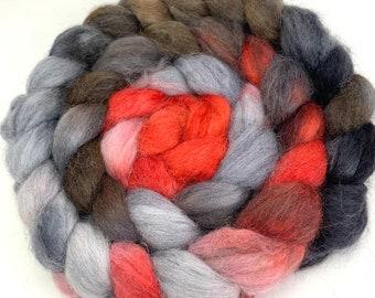 Spinning Fiber - Baby Alpaca Combed Top / Roving 4 oz - Robin