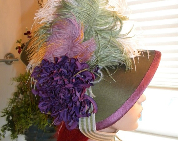 "Women""s Regency Era Bonnet, Jane Austen, Pride & Prejudice , Custom, Handmade - MADE TO ORDER"