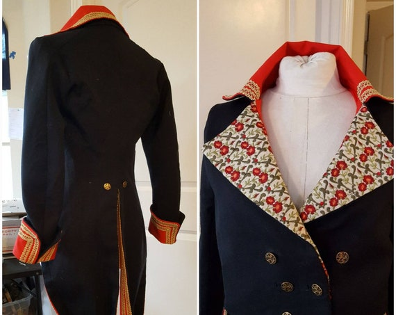 Men's Adam Ant Prince Charming COSPLAY, 18th Century TAILCOAT only, (Made in the USA - not China!)   Lay Away Available