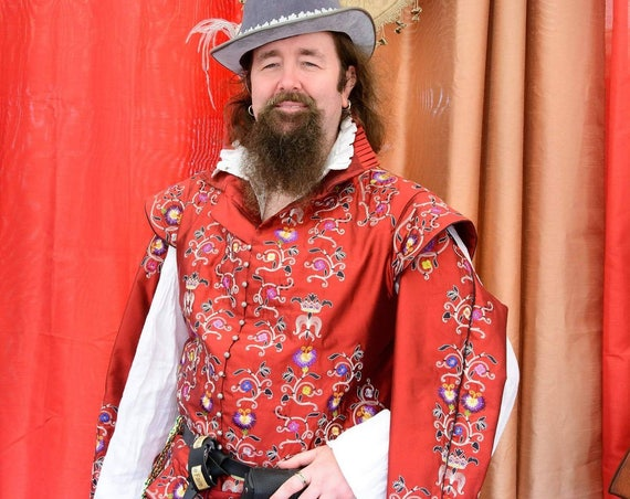 Men's Late Elizabethan Authentic Doublet Reproduction, Renaissance Costume, LABOR ONLY (Made To Order)  - Lay Away Available