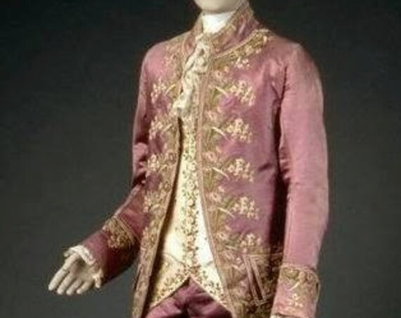 18th Century, Outlander, Versailles, Men's French Court FROCK and WAISTCOAT (Trousers Not Included)  Made To Order