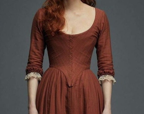 Women's 18th Century Dress, Poldark Cosplay, Made To Order INCLUDES FABBRIC