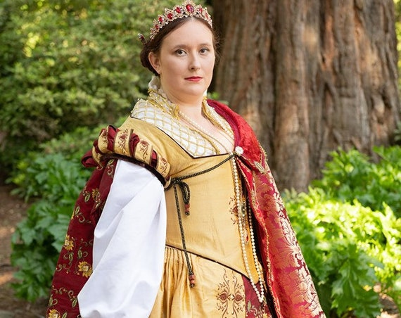 Women's PLUS SIZE Renaissance Dress, Tudor, Elizabethan, Costume , Bridal Gown, (Made To Order) Labor Fees