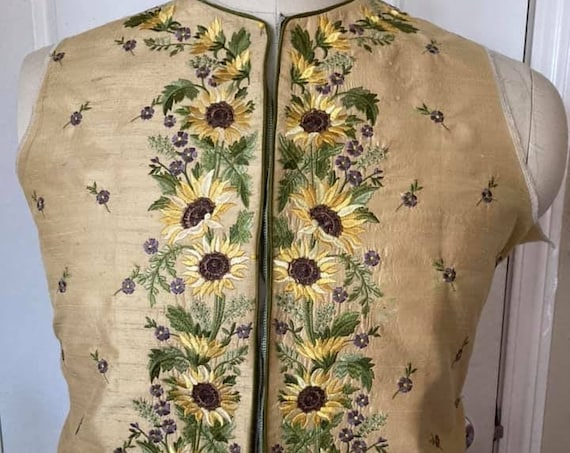 Men's 18th Century, 1780s French Court WAISTCOAT-  Made To Order