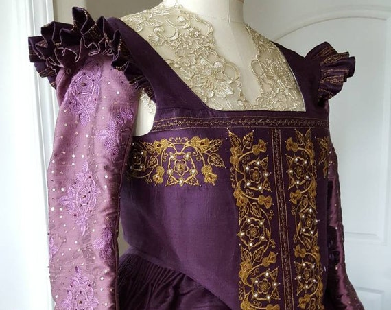 Women's Elizabethan Costume, Bridal Gown, Renaissance Dress (Made To Order)  LABOR FEES