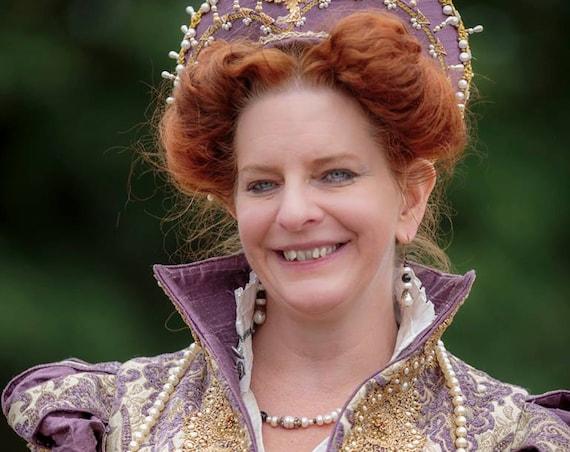Queen Elizabeth 1, Renaissance Dress, Elizabethan, Costume , Bridal Gown,  (Made To Order)  LABOR FEES