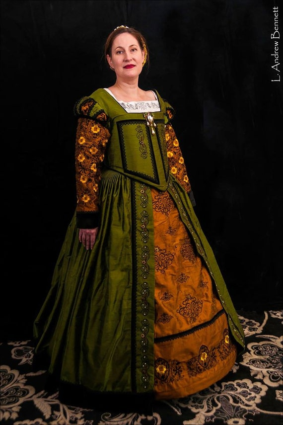 PLUS SIZED Renaissance Dress, Elizabethan, Tudor, Costume, Wedding Gown (Custom Made To Order) - Lay Away Available (Labor Fees)