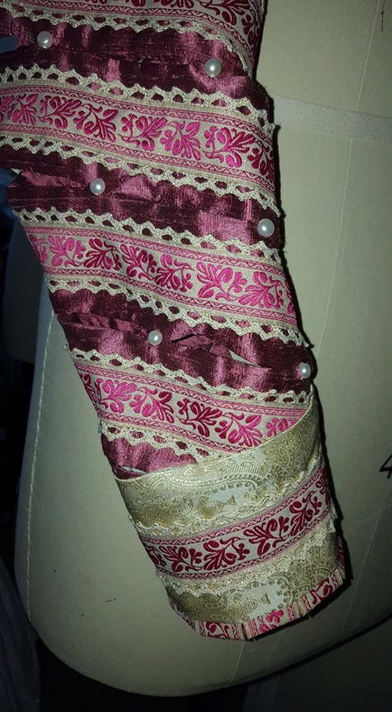 Men's or Women's Slashed Spiral Sleeves, Renaissance, Tudor, Elizabethan - MADE TO ORDER (Client Provides Fabrics & Notions)