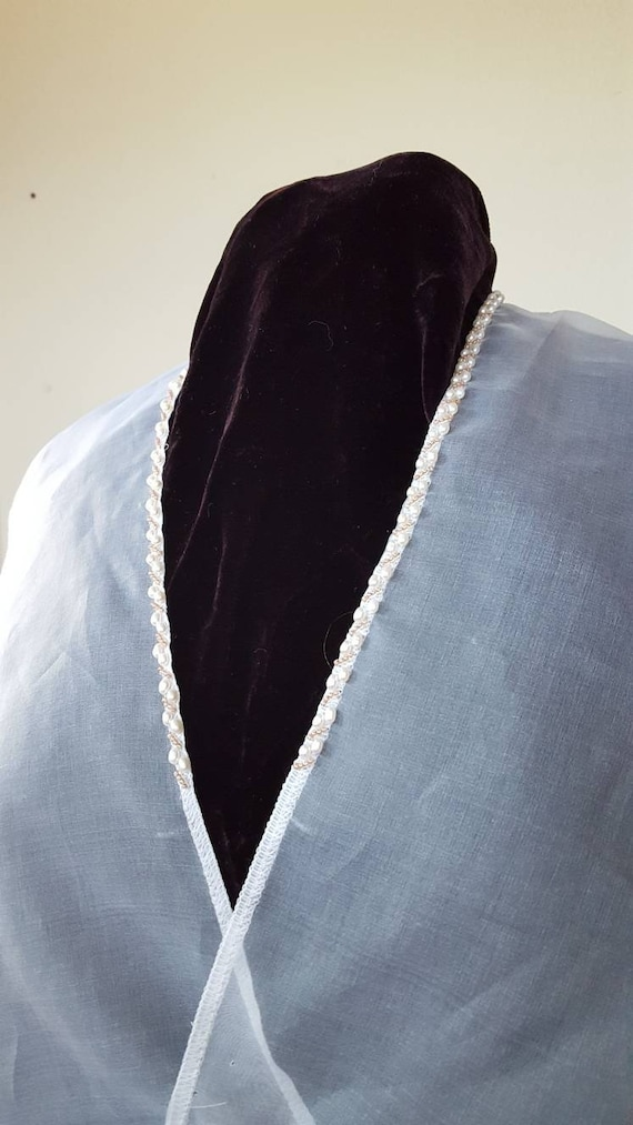 Pearled Silk Organza Under Partlet, Renaissance, Elizabethan, Italian - Made To Order