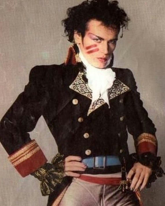 Mens Adam Ant Prince Charming COSPLAY, 18th Century TAILCOAT only, (Made in the USA - not China!)   Lay Away Available