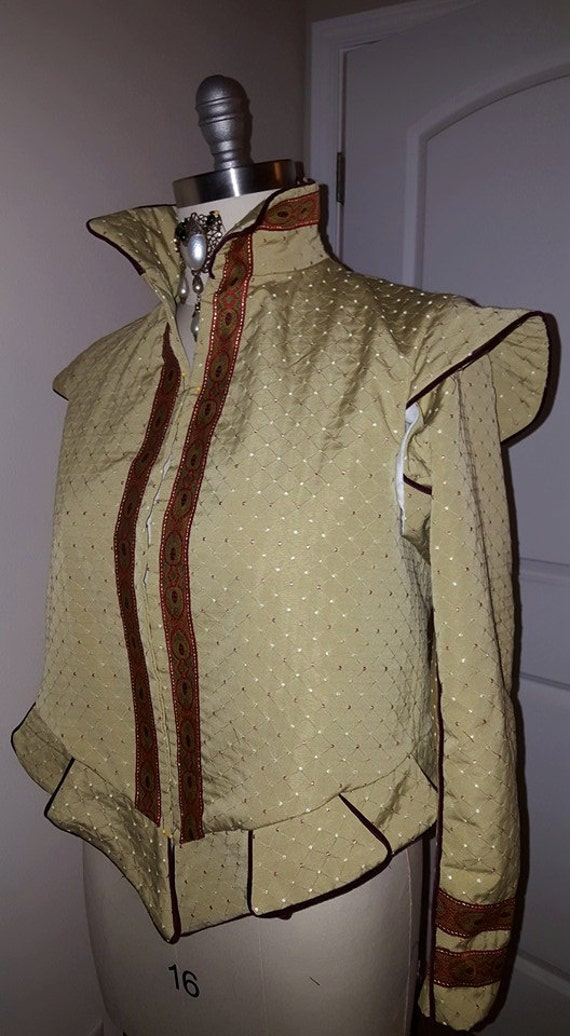 Elizabethan Women's Doublet with Italian Collar, Renaissance Costume, Merchant or Noble Class (MADE TO ORDER)