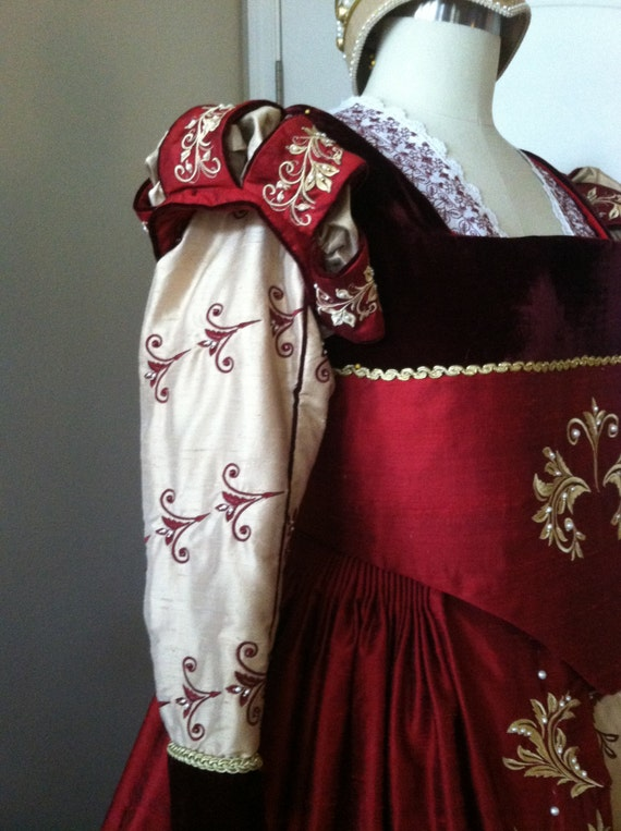 Renaissance Dress, Elizabethan, Tudor, Costume, Wedding Gown - Lay Away Available  (Made To Order) LABOR FEES
