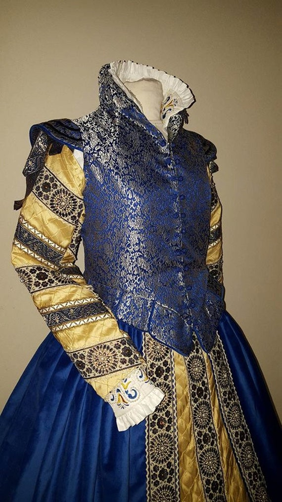 Renaissance Dress, Elizabethan Costume, Italian Doublet, Bridal Gown  -  (Made To Order) LABOR FEES
