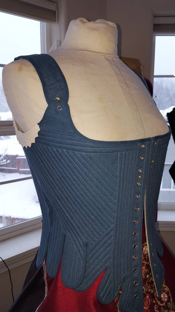 Handmade 18th Century, FULLY BONED - Custom Made in USA = No Risky Overseas Purchase.