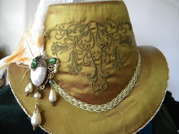 Unisex Renaissance, Elizabethan, Slanted Riding Hat, Without Feather (MADE TO ORDER)