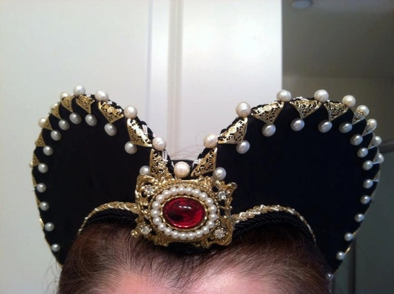 Renaissance,Tudor, Elizabethan, Attifet, Headdress, SINGLE ROW w/o Pearls & Components - Made to Order