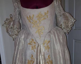 "PLUS SIZED 18th Century ""Scottish"" Wedding Gown (Custom Made To Order) Labor Fees"